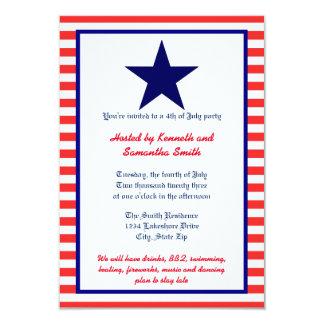 Estrella blanca y azul roja - invitación del