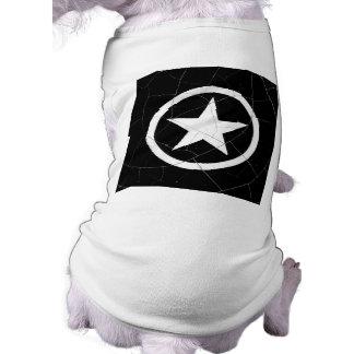 Estrella blanco y negro Crackled del ejército Playera Sin Mangas Para Perro