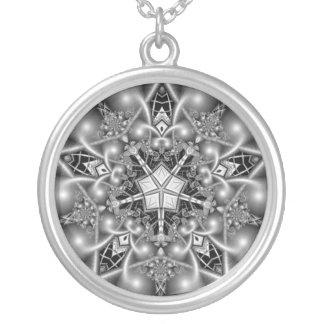 Estrella blanco y negro del Pentagram Colgantes Personalizados