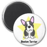 Estrella Boston Terrier de Kawaii Imán
