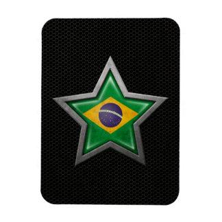 Estrella brasileña de la bandera con el efecto de  imanes