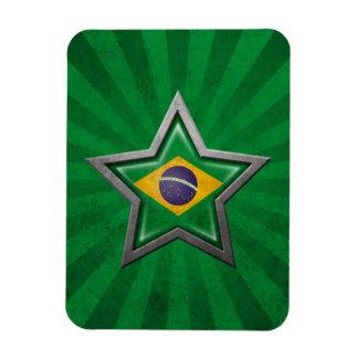 Estrella brasileña de la bandera con los rayos de  iman