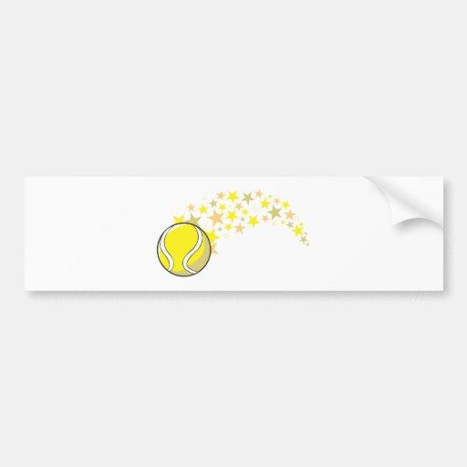 Estrella brillante de la pelota de tenis etiqueta de parachoque