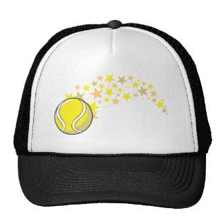 Estrella brillante de la pelota de tenis gorro de camionero