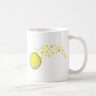 Estrella brillante de la pelota de tenis taza de café