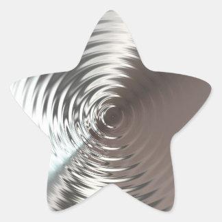 Estrella brillante de plata pegatina en forma de estrella