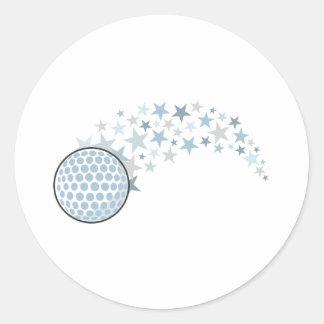 Estrella brillante del golf etiquetas
