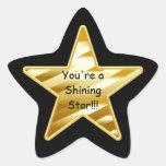 Estrella brillante calcomanías forma de estrella personalizadas