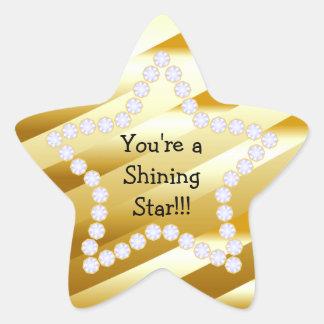 Estrella brillante Rev2 Pegatina En Forma De Estrella