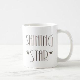 Estrella brillante tazas
