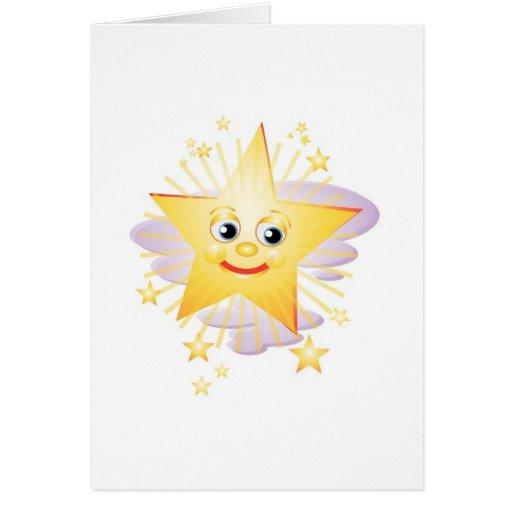 Estrella brillante tolerante felicitación