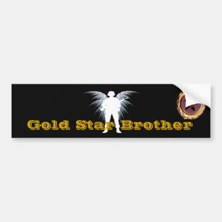 Estrella Brother del oro Pegatina De Parachoque