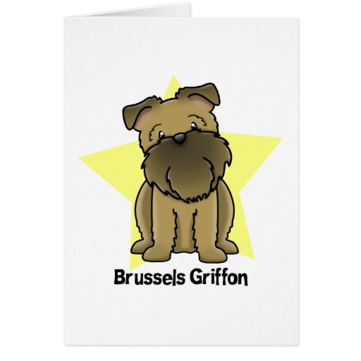 Estrella Bruselas Griffon de Kawaii Tarjetón
