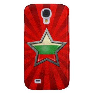 Estrella búlgara de la bandera con los rayos de la funda para galaxy s4