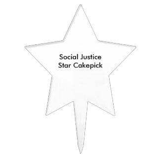 Estrella Cakepick de la justicia social Decoraciones De Tartas