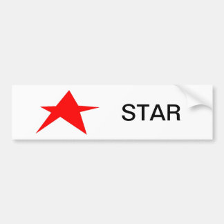 Estrella Pegatina De Parachoque