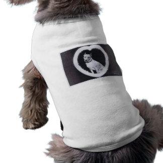 Estrella canina de la película muda del camafeo playera sin mangas para perro