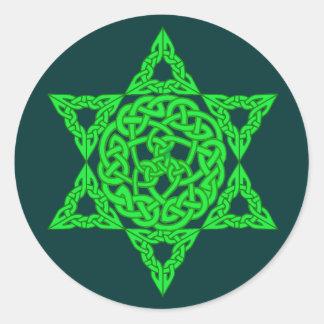 Estrella céltica de los pegatinas de David