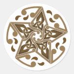 Estrella céltica etiquetas redondas