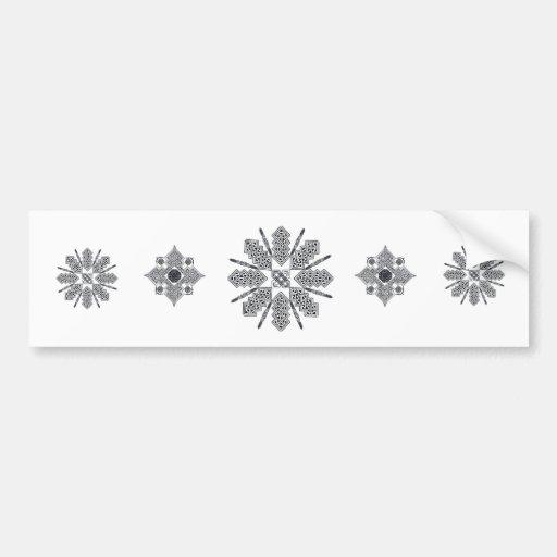 Estrella céltica pegatina de parachoque