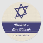 Estrella cepillada del pegatina de Mitzvah de la