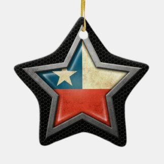 Estrella chilena de la bandera con el efecto de adorno de cerámica en forma de estrella