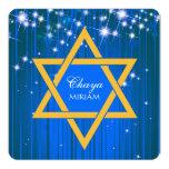 Estrella chispeante de las invitaciones de Mitzvah Invitación