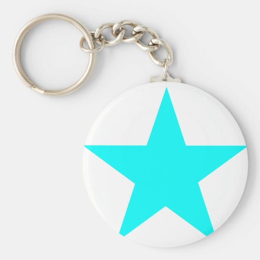 Estrella ciánica los regalos de Zazzle del MUSEO Llavero Redondo Tipo Pin