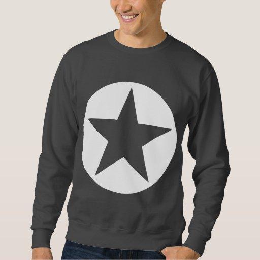 Estrella circundada - blanco sudadera