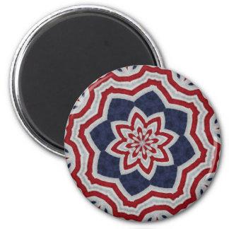 Estrella colonial de la bandera imán redondo 5 cm
