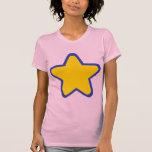 Estrella coloreada camisetas
