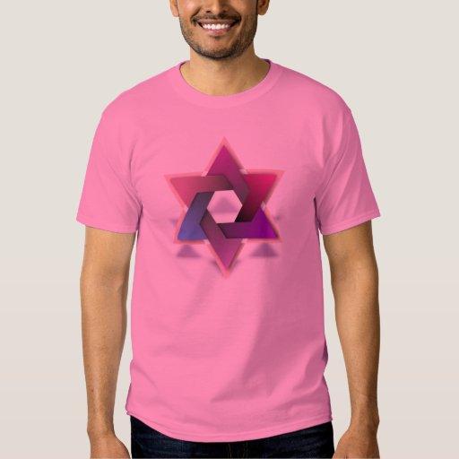 Estrella colorida de la camiseta de David Remera