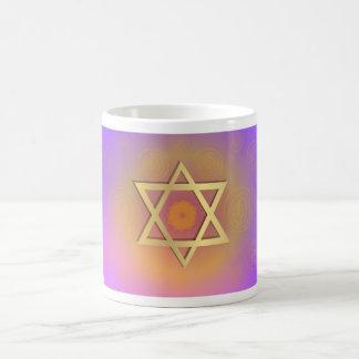 Estrella colorida de la taza de café de David