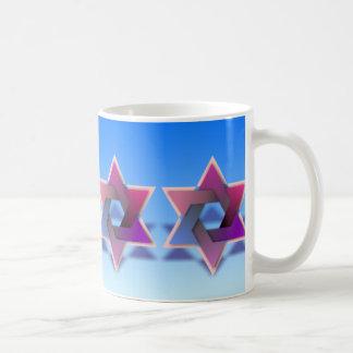 Estrella colorida de la taza de David