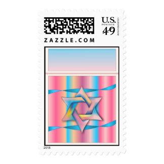 Estrella colorida del sello de David