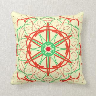 Estrella colorida en rojo, y la píldora verde de M Almohada