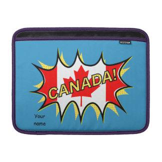 Estrella cómica del estilo de Kapow de la bandera Funda MacBook