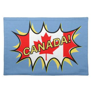 Estrella cómica del estilo de Kapow de la bandera Mantel Individual