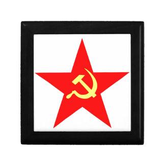 Estrella comunista cajas de recuerdo