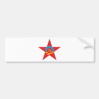 Estrella comunista de Obama Pegatina Para Auto