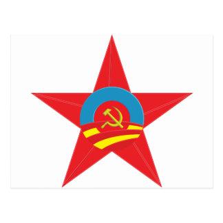 Estrella comunista de Obama Postales