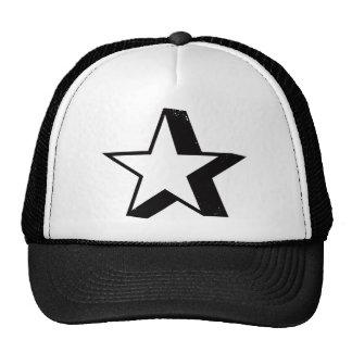 Estrella con la sombra del descenso pesado gorro de camionero
