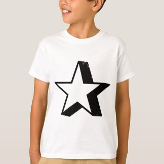 Estrella con la sombra del descenso pesado playera