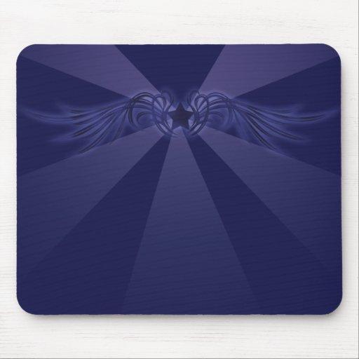 Estrella con las alas azules mouse pads