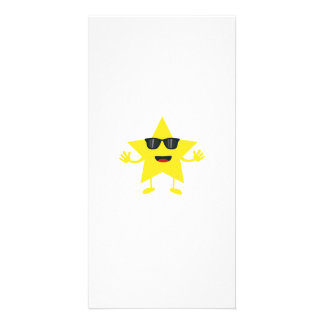 estrella con las gafas de sol tarjetas fotograficas personalizadas