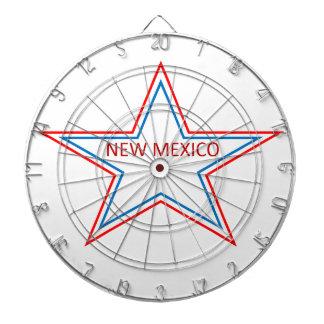 Estrella con New México en él Tablero Dardos