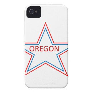 Estrella con Oregon en él iPhone 4 Case-Mate Protectores