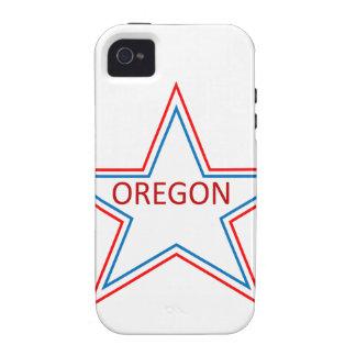 Estrella con Oregon en él Case-Mate iPhone 4 Carcasa