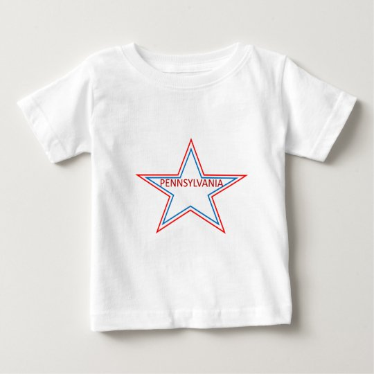 Estrella con Pennsylvania en él Playera De Bebé