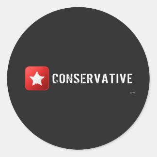 Estrella conservadora pegatinas redondas